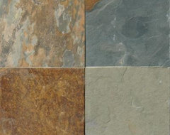Slate Tile: 12 in. x 12 in. Three Rivers Gold Slate Floor and Wall Tile STRIVGLD contemporary-floor-tiles