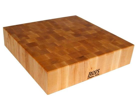 John Boos - Reversible Chopping Block in Cherry Finish (2 - Choose Size: 24 in. L x 24 in. W x 6 in. HReversible cutting board. Cherry finish