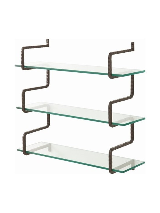 Arteriors Wally Iron/Glass Wall Mount Shelves - Wally Iron/Glass Wall Mount Shelves