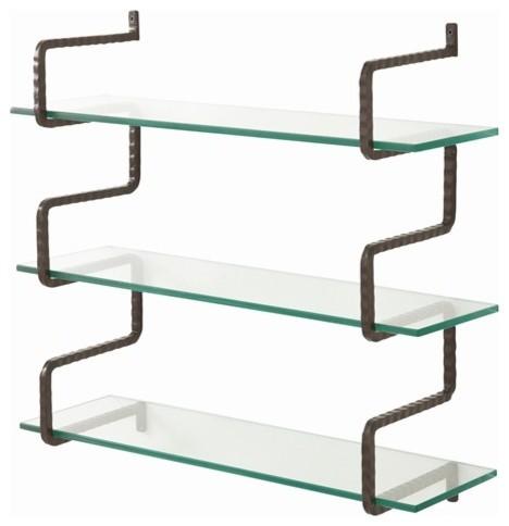 arteriors wally iron glass wall mount shelves. Black Bedroom Furniture Sets. Home Design Ideas