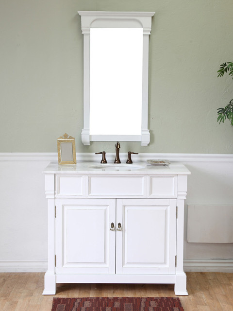 "42"" Helena Single Bath Vanity - White traditional-bathroom-vanities-and-sink-consoles"