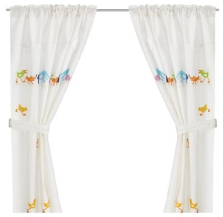 Barnslig Ringdans Curtain With Tie Back Scandinavian