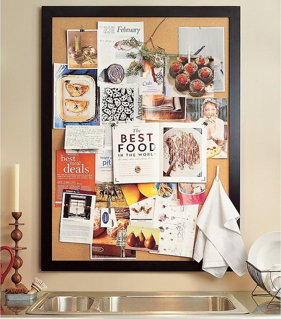 Framed Corkboard Traditional Bulletin Boards And