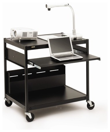 "Projector / Laptop Presentation Cart with 4 Electrical Outlets - 33"" H modern-wall-shelves"