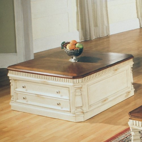 Parker house square lift top cocktail table antique for Antique cream coffee table