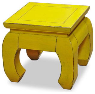 Chow Leg Square Table asian side tables and accent tables