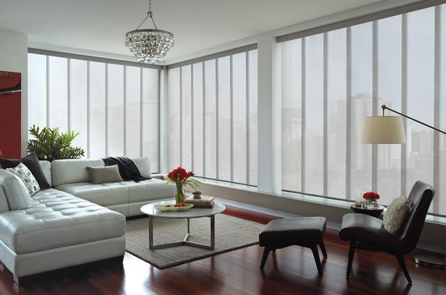 Hunter Douglas Skyline Shades Contemporary Window Treatments