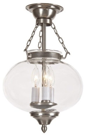 Classic Onions 3 Light Medium Semi Flush Mount traditional-ceiling-lighting