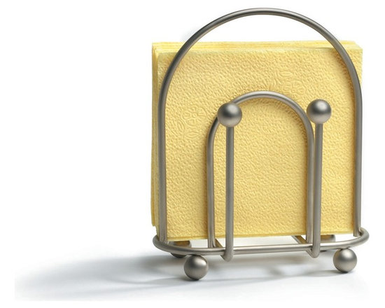 Spectrum Diversified Designs - Pantry Works Napkin Holder - Satin Nickel - Clean and classic. The Pantry Works napkin holder keeps napkins neat, stacked and contained. Satin nickel finish.