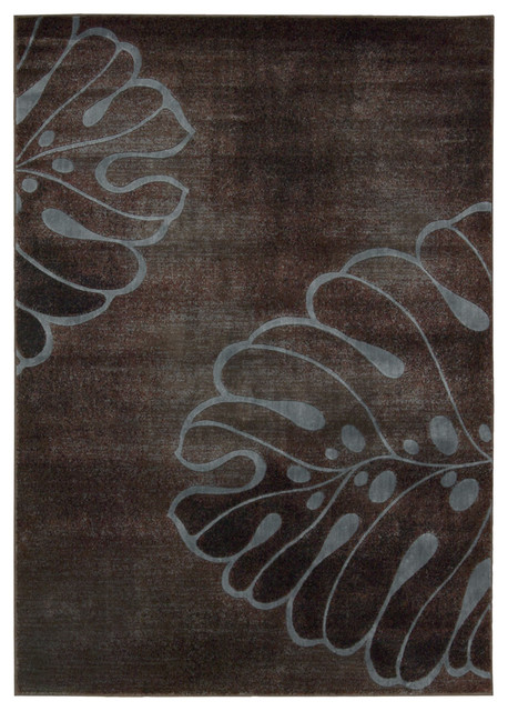 "Expressions XP03 2' x 5'9"" Brown Rug eclectic-rugs"