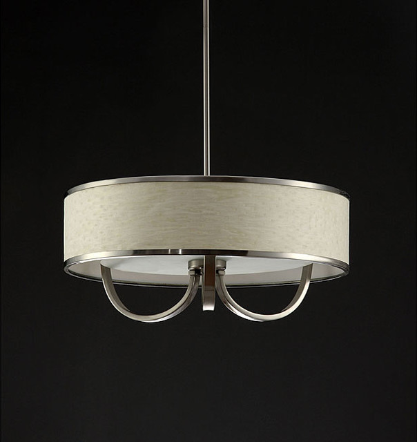 Metal Rim White Chandelier contemporary chandeliers