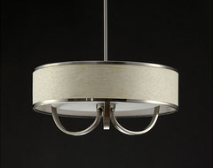 Metal Rim White Chandelier contemporary-chandeliers