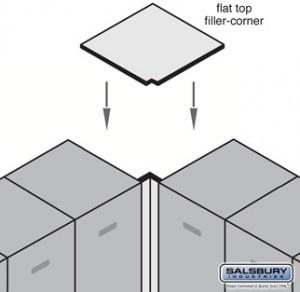 Flat Top Filler - Corner - for 21 Inch Deep Extra Wide Designer Wood Locker modern-storage-cabinets