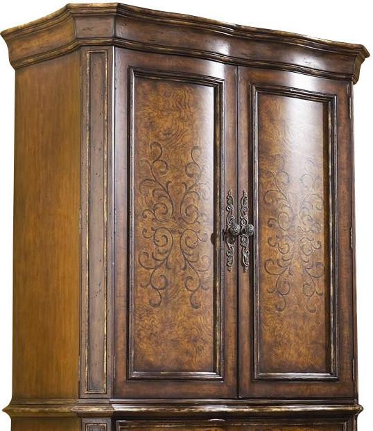 Hooker furniture beladora armoire top 698 90 114 ends jul for Beladora bedroom set