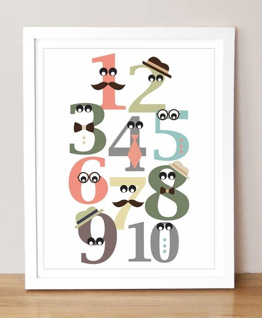 Mister Numbers 11 x 14 Print by sugarfresh on Etsy eclectic-artwork