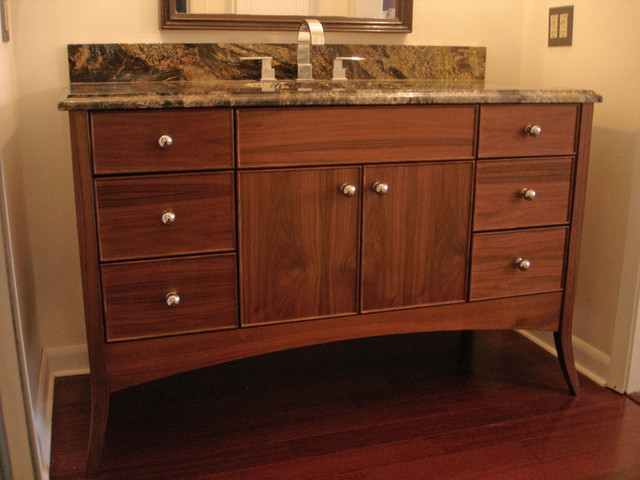 Walnut vanity Contemporary Bathroom Vanities And Sink