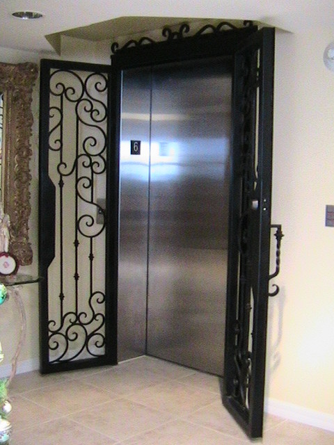 Forge Iron Designs Wrought Iron Elevator Door Interior Doors T a on art deco interior door designs