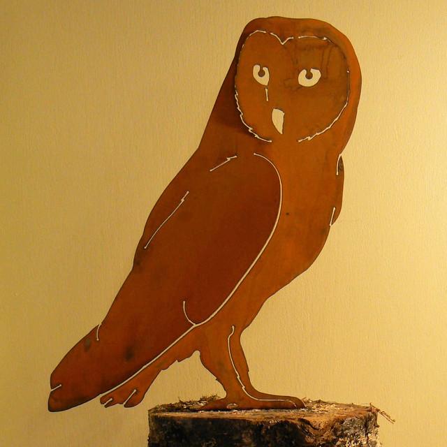 Barn Owl Bird Silhouette contemporary-outdoor-decor