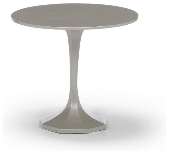 Milano Round Low Outdoor Side Table, Patio Furniture traditional-side-tables-and-end-tables
