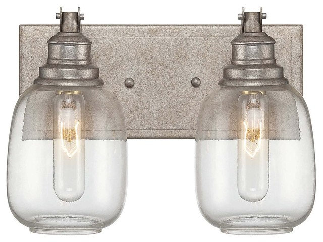 Hampton Bay 2 Light Chrome Bath Light 05659: Bathroom Vanity Lighting