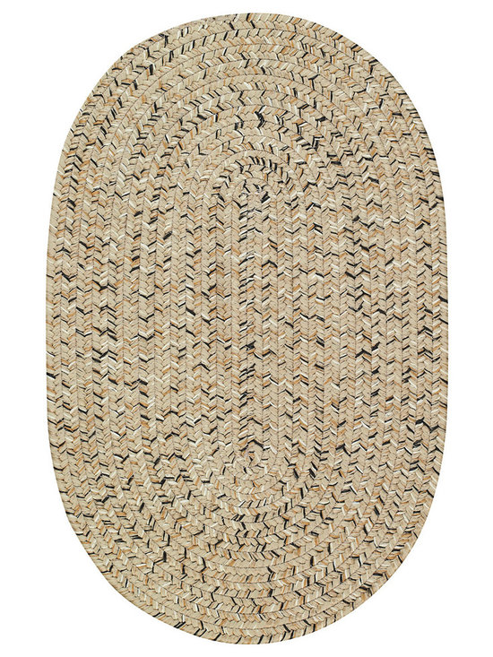 Sea Glass rug in Shell - We've searched the shorelines and put together a seaworthy palette of multi colored favorites. Our 100% polypropylene Sea Glass braided rugs, part of the Capel Anywhere™ category, add a touch of beachside beauty to indoor and outdoor venues.