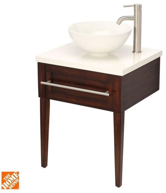Home Decorators Collection Bathroom Aitken 24 In Transitional Vanity In Oak