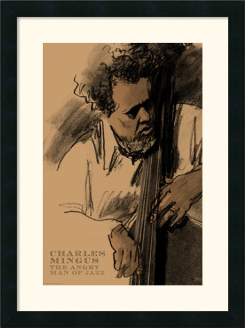 Charles Mingus Framed Print by Clifford Faust traditional-prints-and-posters