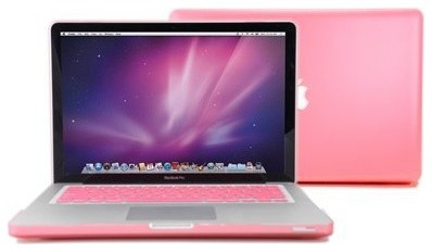 GMYLE (TM) Pink Rubberized-See-Through Hard Case Skin For Macbook Pro modern desk accessories