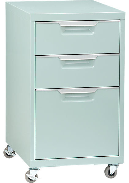 TPS Mint File Cabinet - Contemporary - Filing Cabinets - by CB2