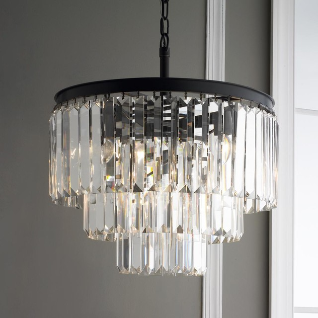 Prism Glass Fringe Chandelier Chandeliers By Shades Of