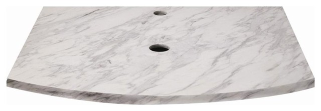 Lola 25 in. Marble Countertop in Bianco - 167 contemporary-vanity-tops-and-side-splashes