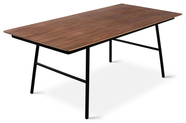 Gus Modern School Dining Table Walnut Veneer Modern Dining Tables
