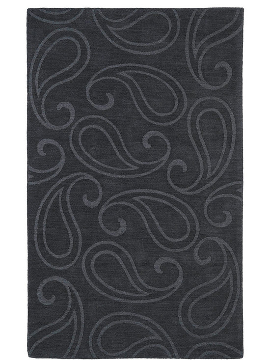 Kaleen - Imprints Classic Ipc05 Charcoal Rug - Imprints Classic, where textiles meet fashion. Modern textile designs and todays hottest colors combine to meet the new evolution of this beautiful collection. Straight off the runway and into your home each rug is handmade in India of 100% Virgin Wool.