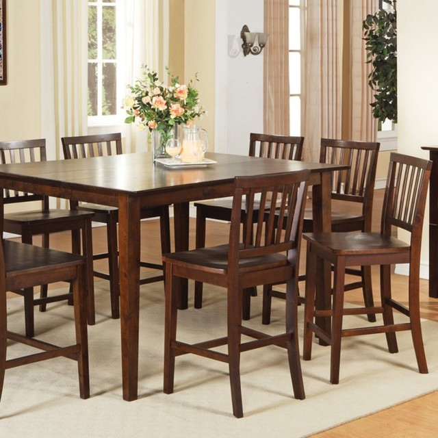branson 9 piece counter height dining table set modern dining tables