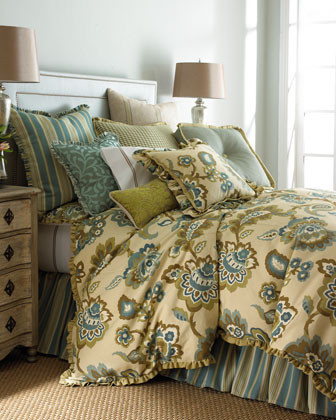French Laundry Home Celeste Bed Linens Standard Floral Sham traditional-pillowcases-and-shams