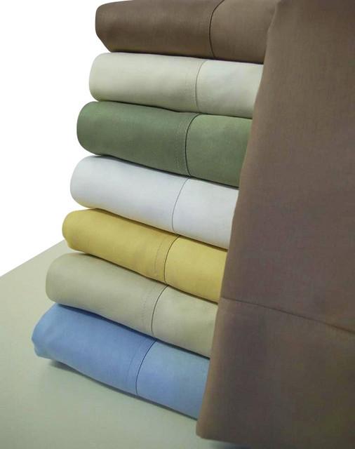 100% Bamboo Sheet Set Queen Blue modern-sheet-and-pillowcase-sets