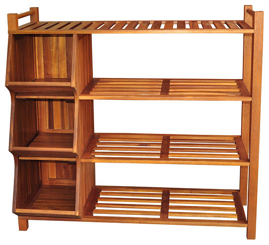 Outdoor 4-tier Shoe Rack/ Cubby - Contemporary - Shoe Storage - by Overstock.com