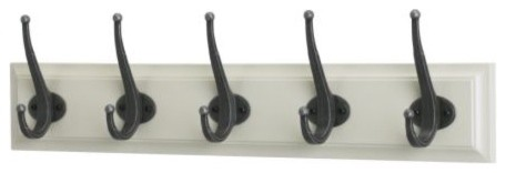 LEKSVIK Rack with 5 hooks modern hooks and hangers