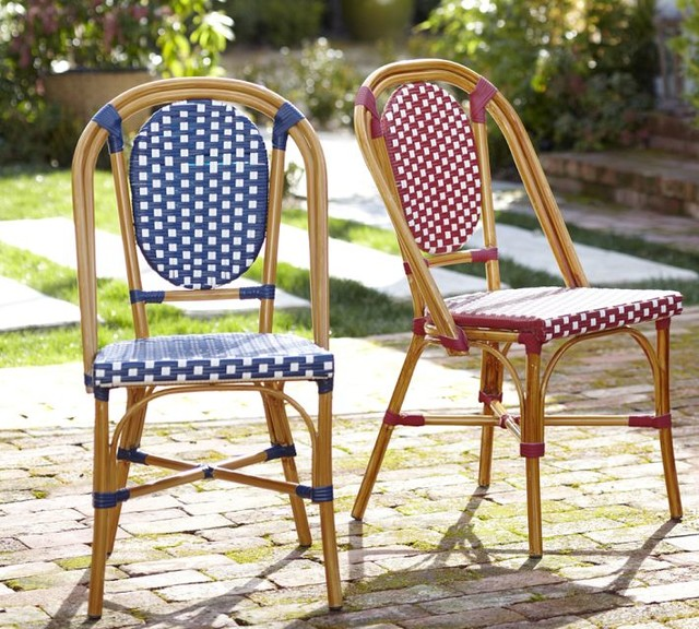 French Café Side Chair Traditional Outdoor Lounge Chairs by Pottery Barn