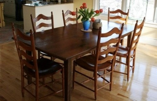 Rustic Farm Table In Clients Home farmhouse-dining-tables