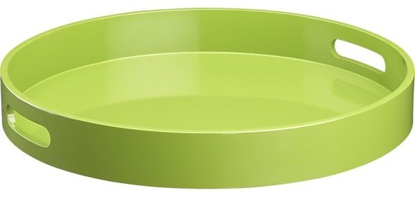 Samba Round Green Tray modern-serving-dishes-and-platters
