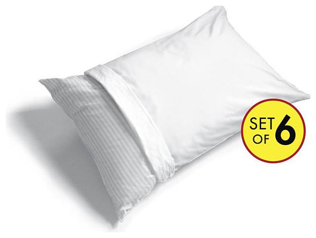 Cotton-rich Pillow Protector contemporary-decorative-pillows