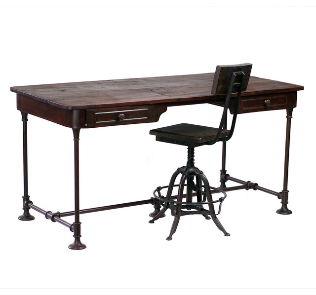 Bettendorf Industrial Style Desk - Eclectic - Desks And Hutches - los