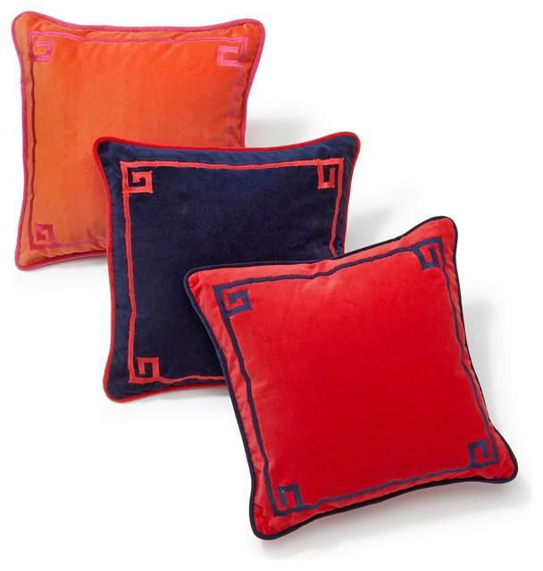 Embroidered Bamboo Pillow Cover contemporary-decorative-pillows