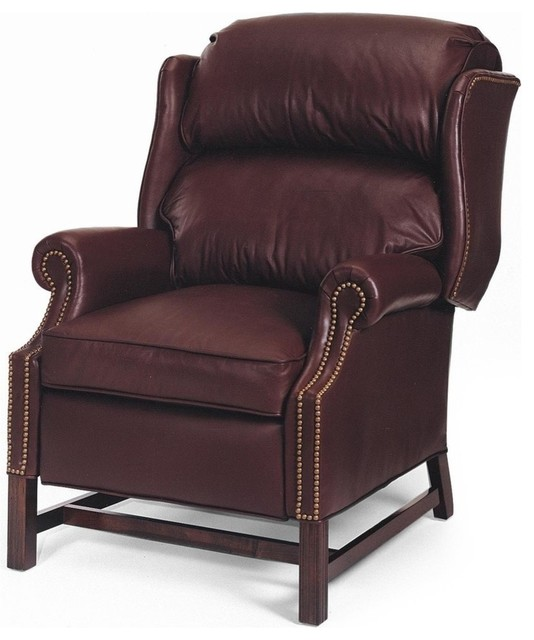 New Chair Chippendale Wood Leather No traditional-armchairs-and-accent-chairs