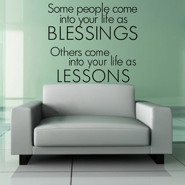 bedroom wall decal some people come into your life as blessings modern