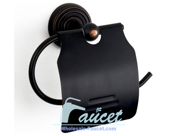 Oil Rubbed Bronze Bathroom Roll Paper Holder - Features: