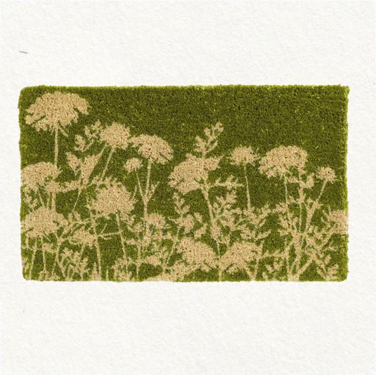 Green Mums Doormat contemporary-doormats