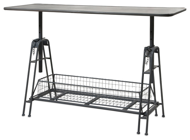 Henry Adjustable Metal Work Table contemporary-side-tables-and-end-tables