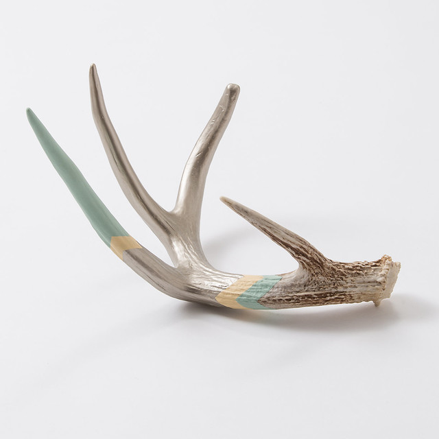 Cream seafoam antler eclectic home decor by terrain for Antler decorations for home